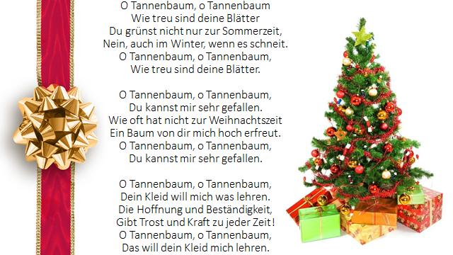 Tannenbaum Lied.Kinderlieder Frau Young Mcqueen